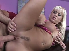 Hot cock freaking galfriend and engulfing her ass hard.